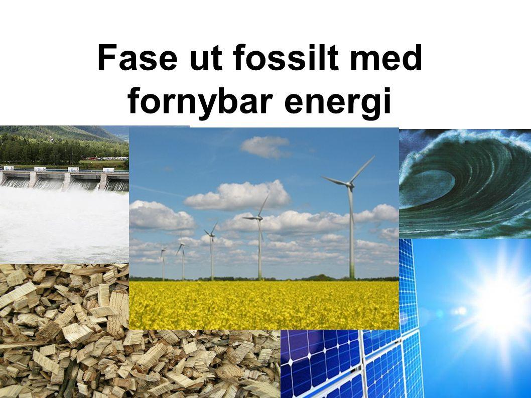 Fase ut fossilt med fornybar energi VANN BØLGER BIO SOL – VINd
