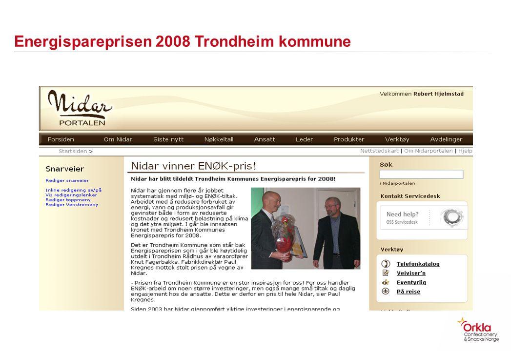 Energispareprisen 2008 Trondheim kommune
