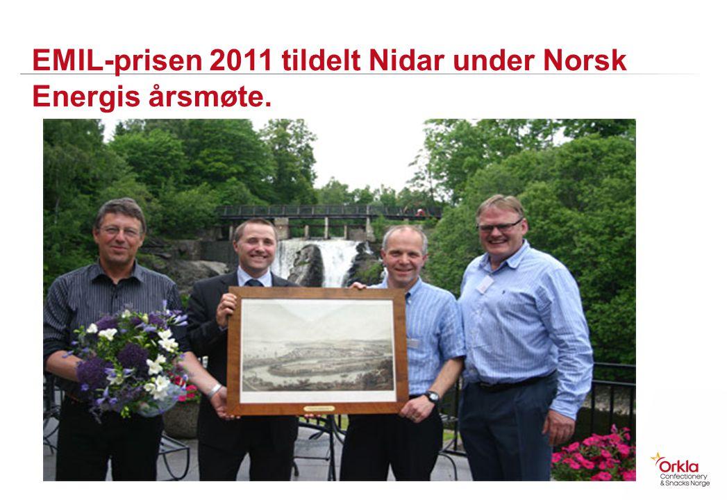 EMIL-prisen 2011 tildelt Nidar under Norsk Energis årsmøte.