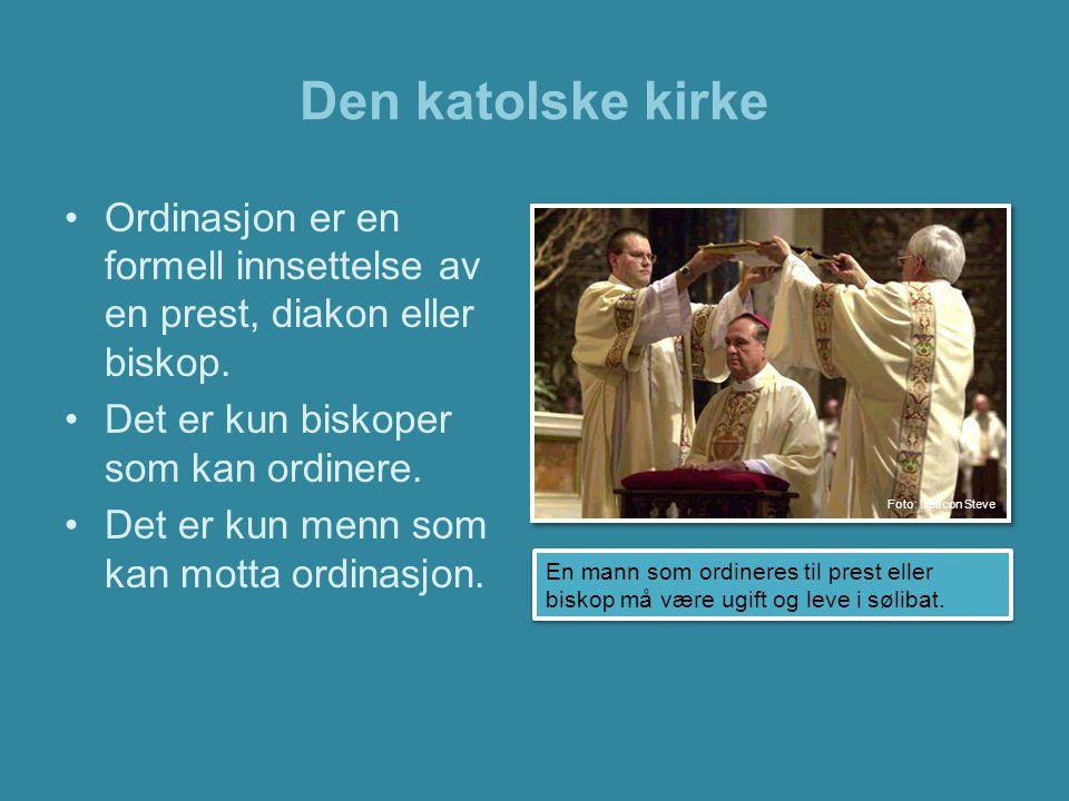 Den katolske kirke •Sykesalving er det syvende sakramentet innenfor den katolske kirke.