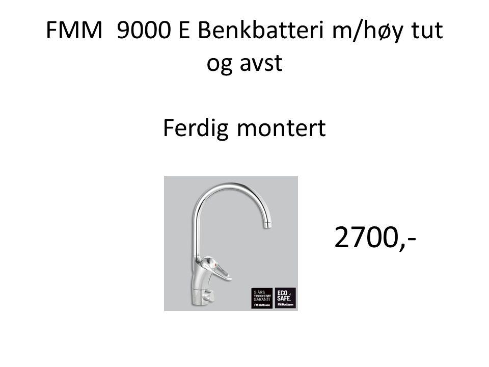 FMM 9000 E Benkbatteri m/høy tut og avst Ferdig montert 2700,-