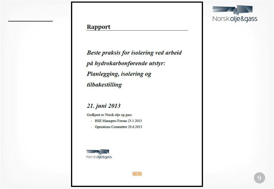 Veien videre • Selskapene/ledelsen må sørge for at budskapet i rapporten blir tatt inn i eget styringssystem • Ansatte har et ansvar for at beste praksis blir fulgt i praksis • Vi må unngå et nytt Piper Alpha!