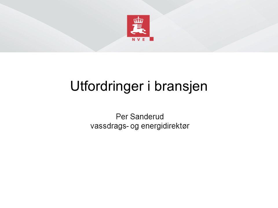 Utfordringer i bransjen Per Sanderud vassdrags- og energidirektør