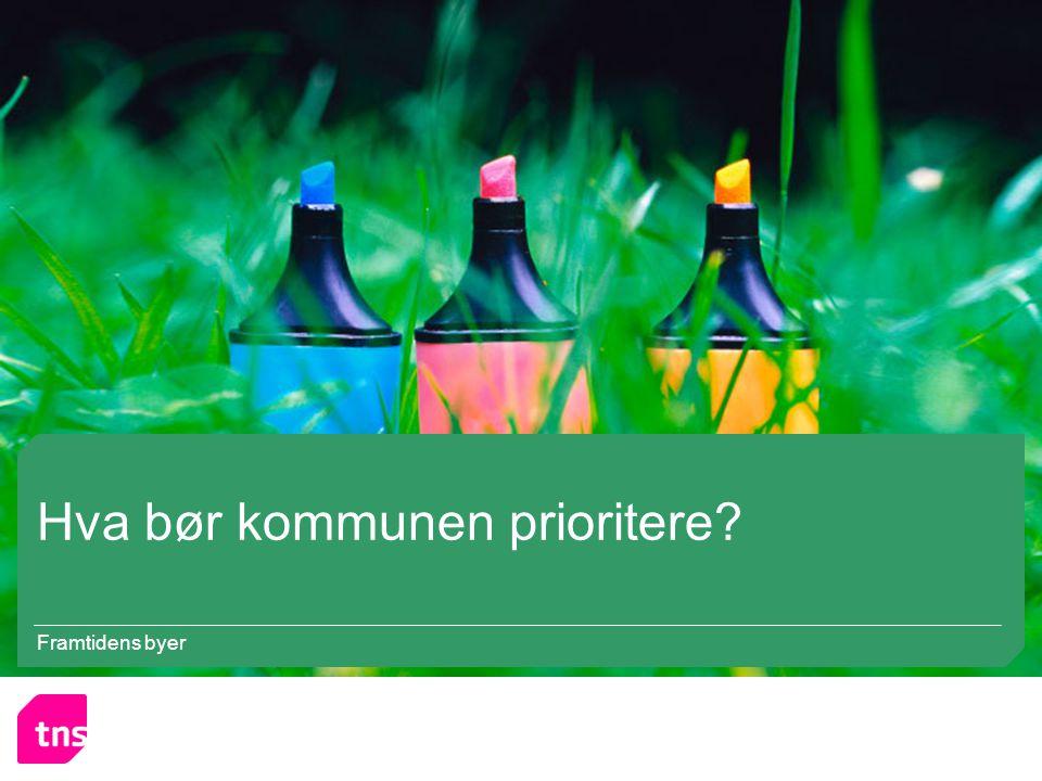 Framtidens byer Hva bør kommunen prioritere?