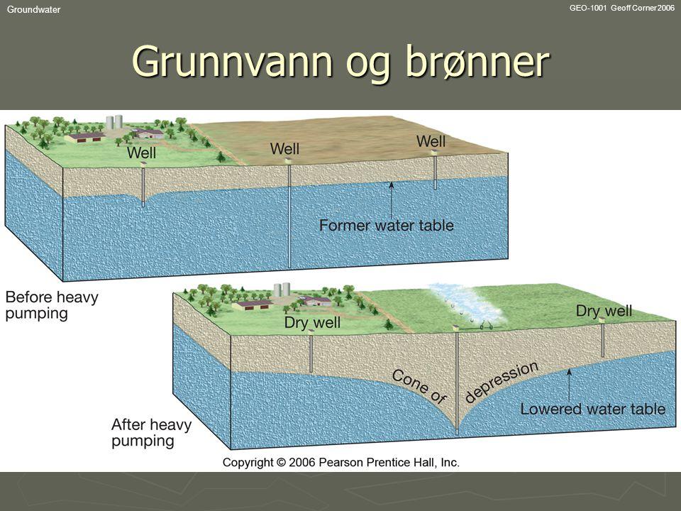 GEO-1001 Geoff Corner 2006 Groundwater Grunnvann og brønner