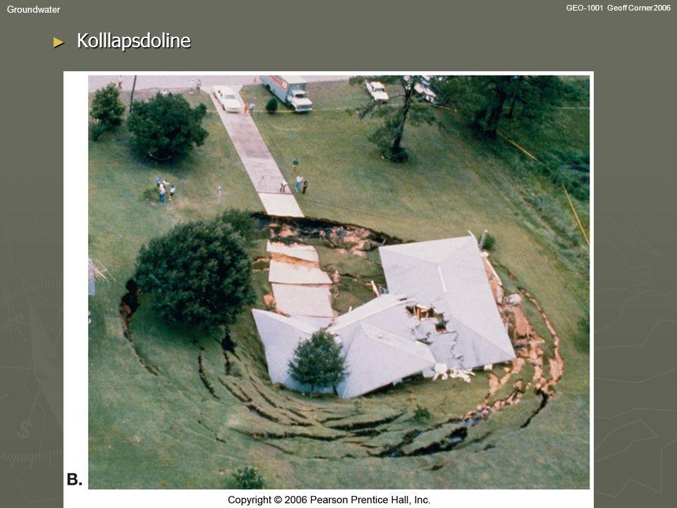 GEO-1001 Geoff Corner 2006 Groundwater ► Kolllapsdoline