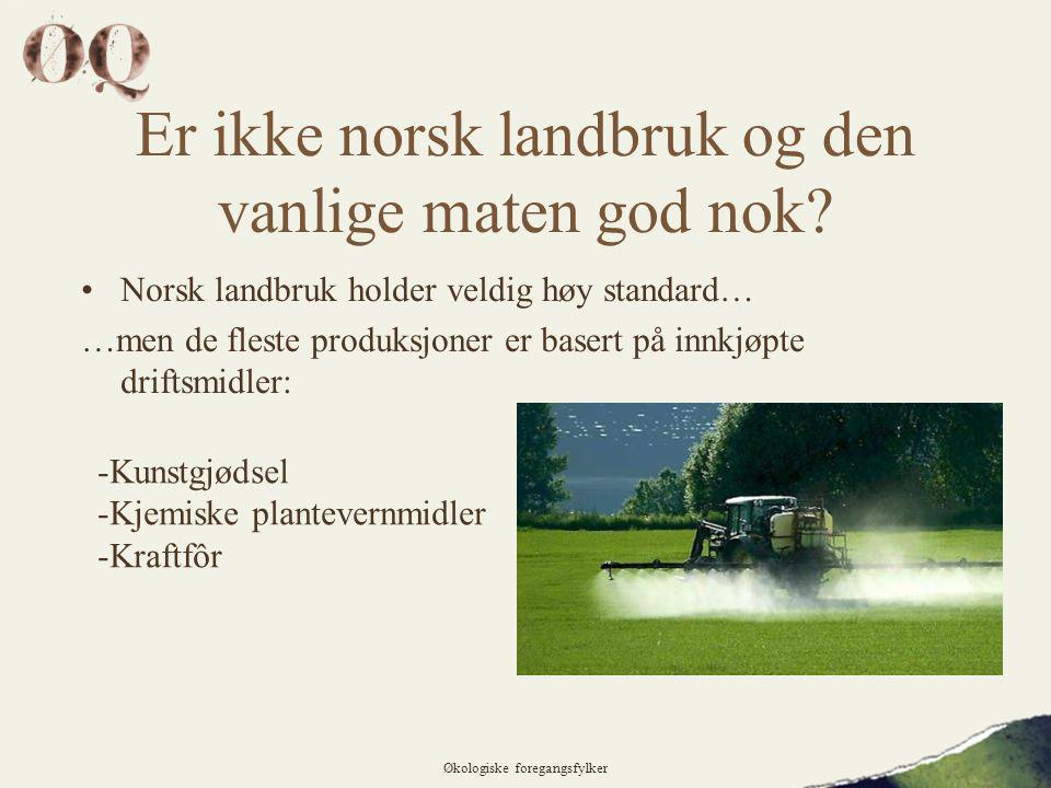 Er ikke norsk landbruk og den vanlige maten god nok.