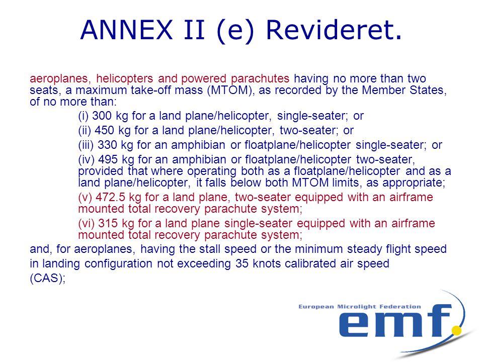 ANNEX II (e) Revideret.