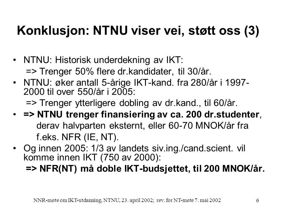 NNR-møte om IKT-utdanning, NTNU, 23.april 2002; rev.