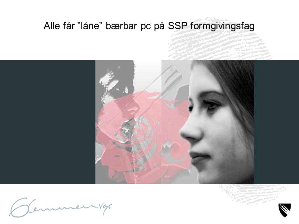 """Alle får """"låne"""" bærbar pc på SSP formgivingsfag"""