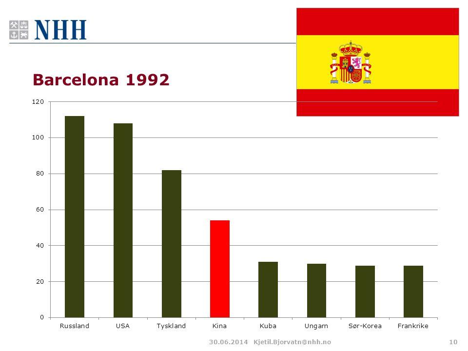 Barcelona 1992 30.06.2014Kjetil.Bjorvatn@nhh.no10