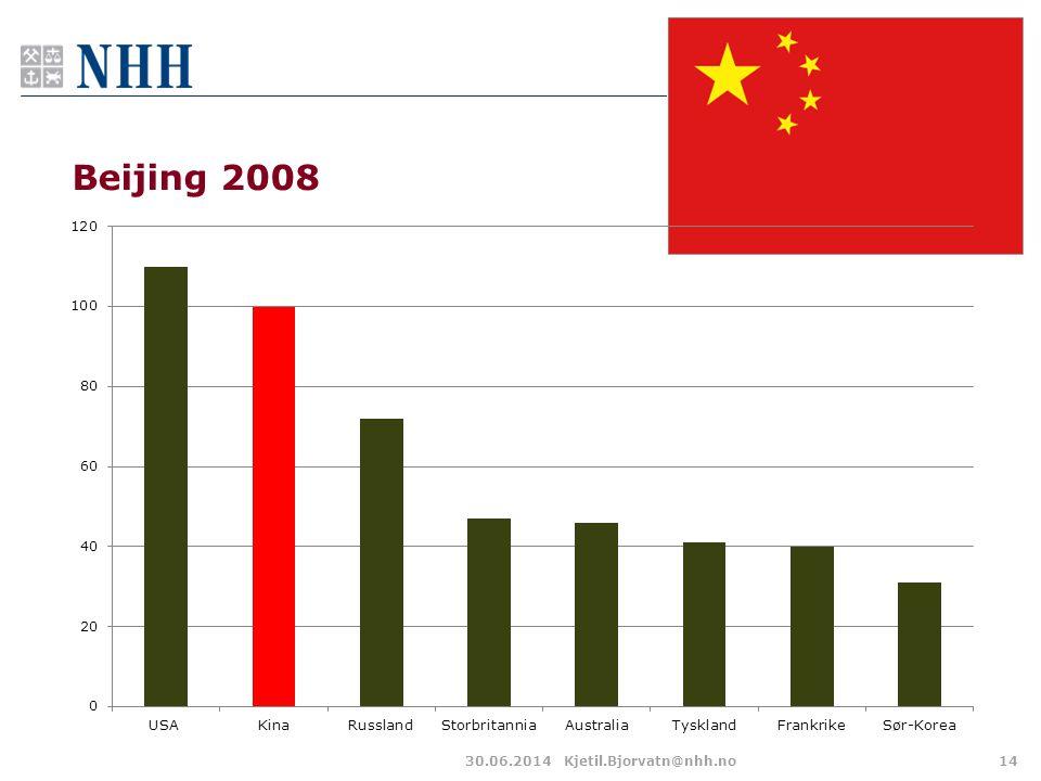 Beijing 2008 30.06.2014Kjetil.Bjorvatn@nhh.no14