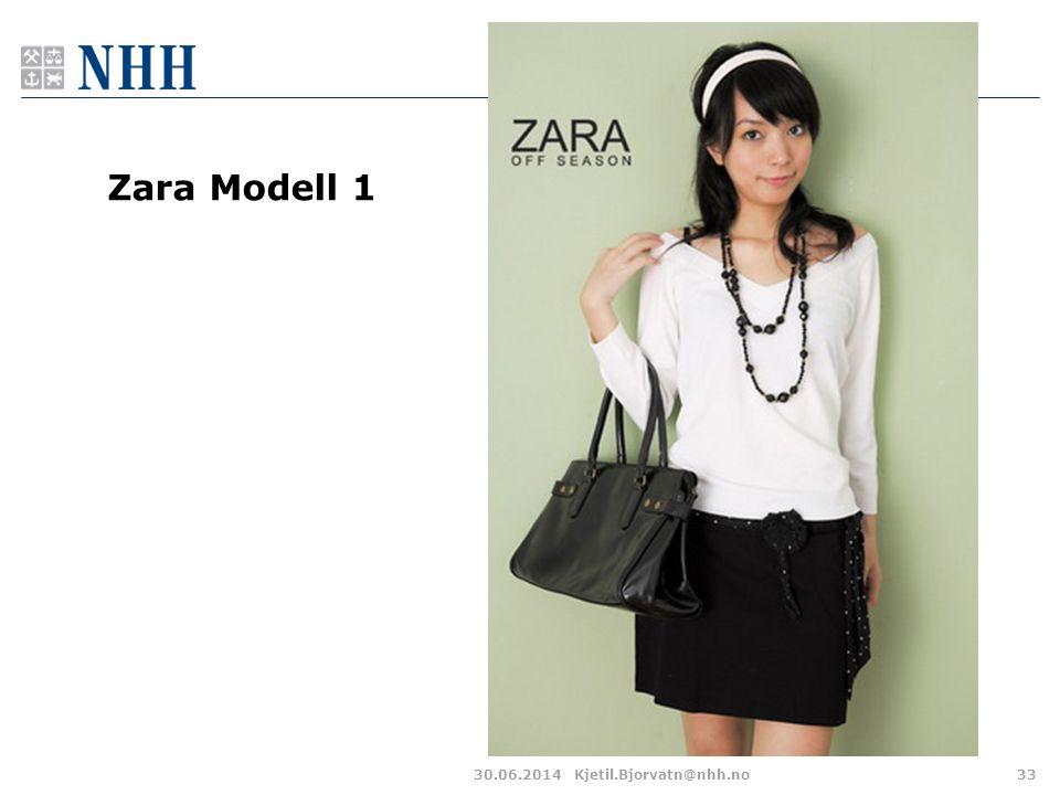 30.06.2014Kjetil.Bjorvatn@nhh.no33 Zara Modell 1