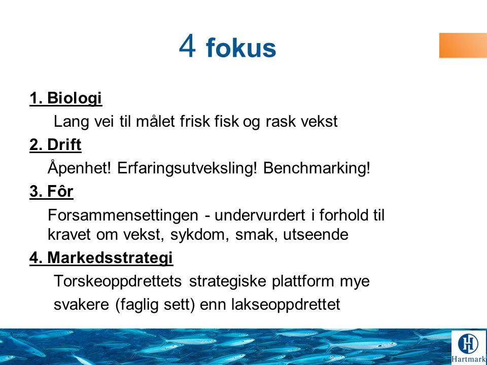 4 fokus 1.Biologi Lang vei til målet frisk fisk og rask vekst 2.