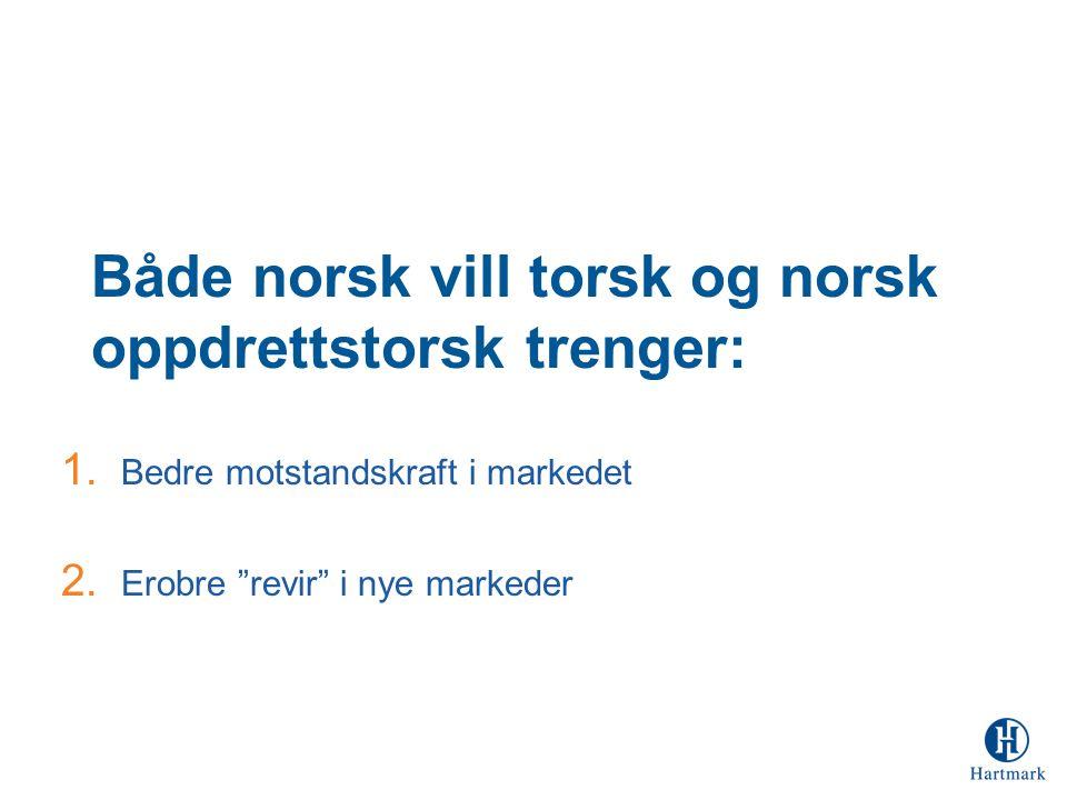 Både norsk vill torsk og norsk oppdrettstorsk trenger: 1.