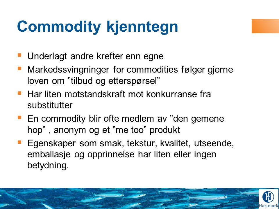Påstand:  Det er fullt mulig å bringe en commodity ut av ingenmannsland .