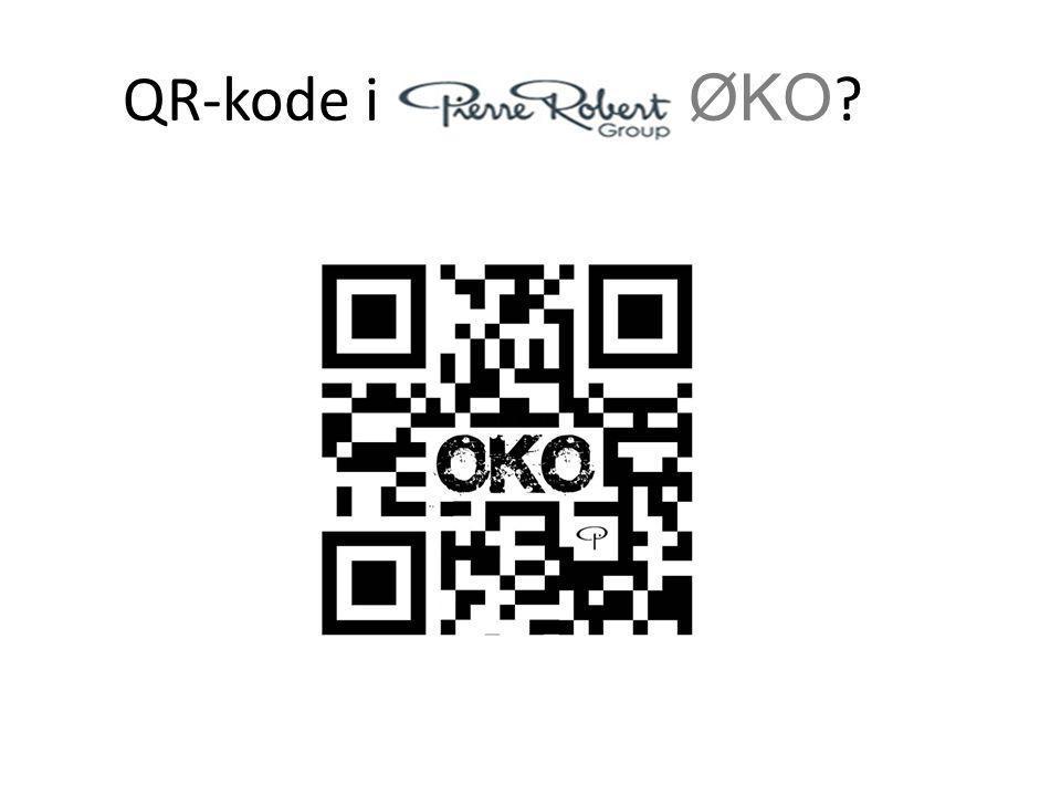 QR-kode i ØKO ?