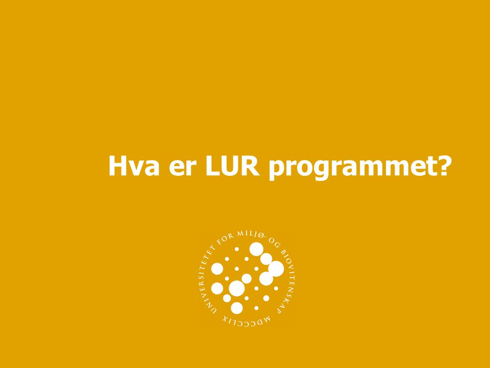 Hva er LUR programmet?