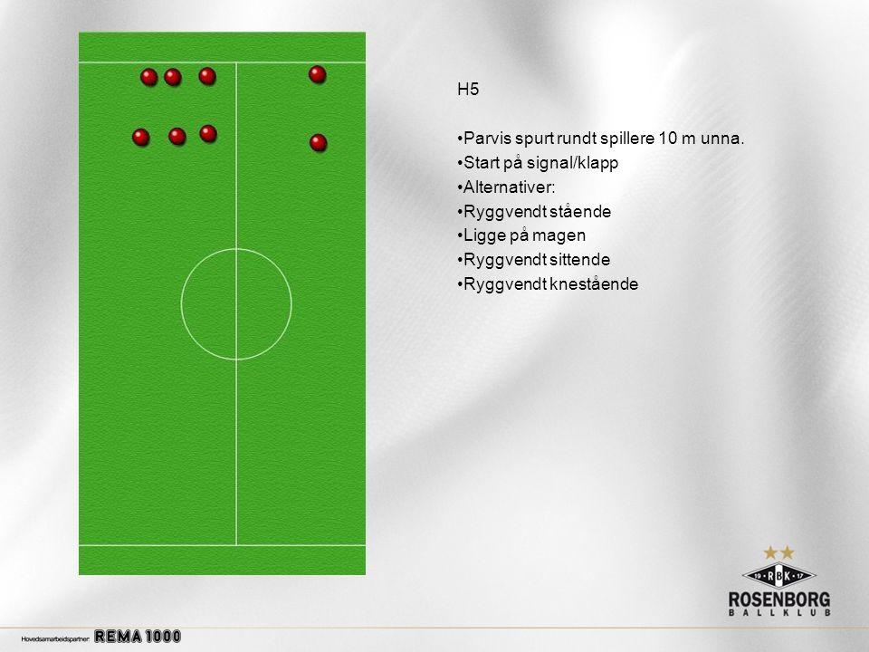 H5 •Parvis spurt rundt spillere 10 m unna.