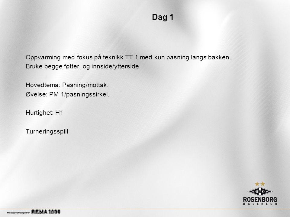 Dag 4 Oppvarming med fokus på teknikk TT 2/ Teknikksirkel Hovedtema: Avslutninger.