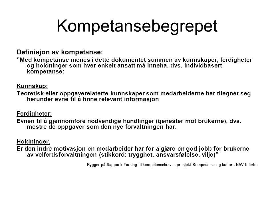 Definisjon av kompetanse fra St.meld.30. Fra St.meld.