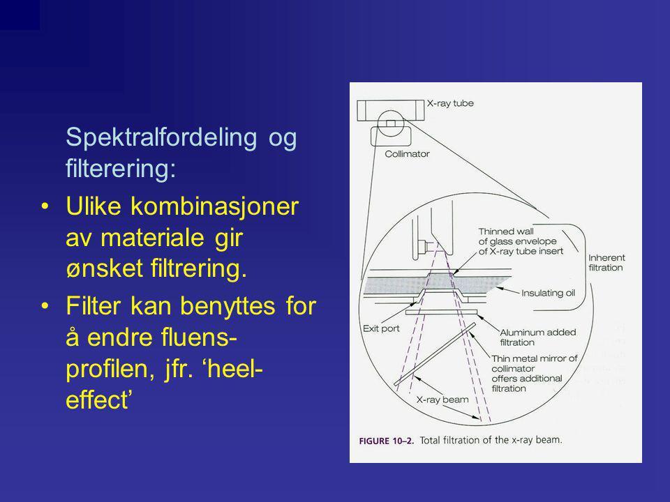 Spredt stråling påvirkes av: •Feltstørrelse •Pasientvolum •Projeksjon •strålekvalitet