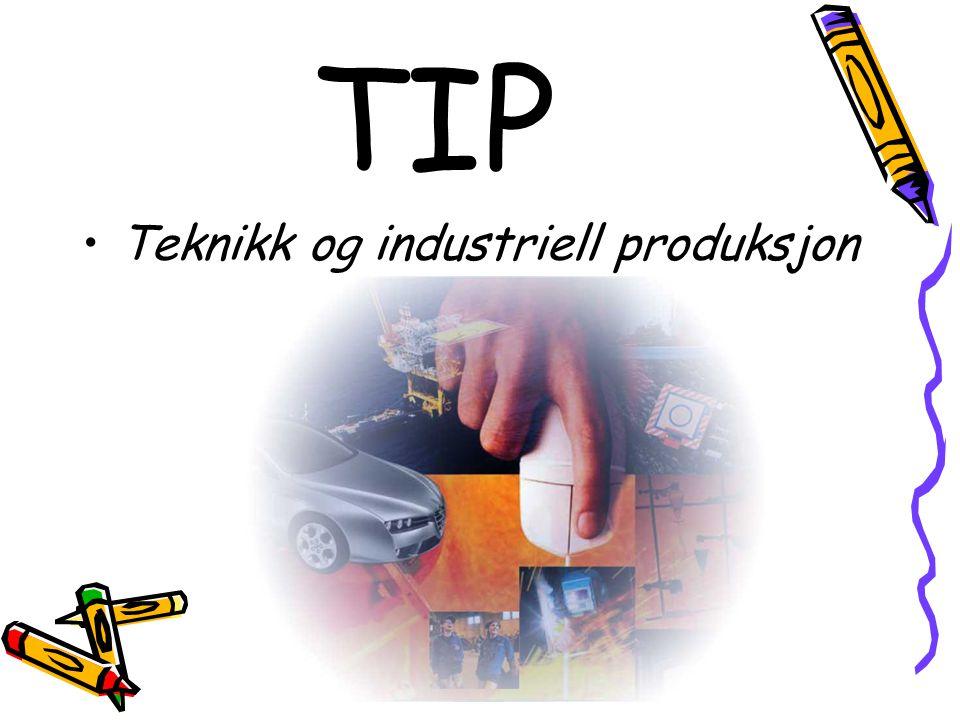TIP •Teknikk og industriell produksjon
