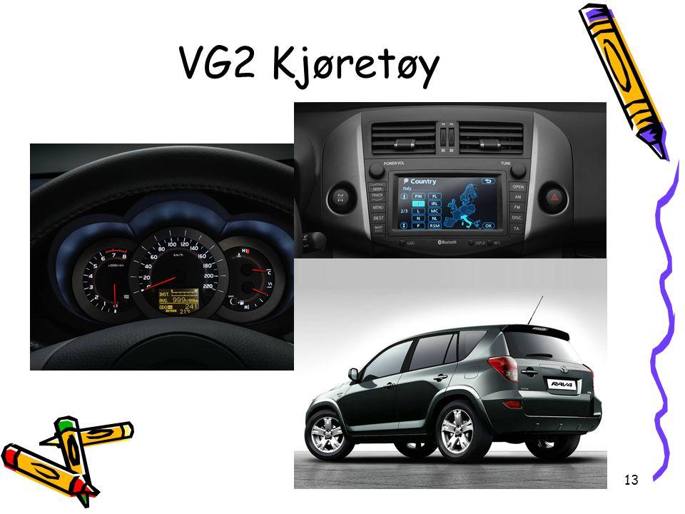 13 VG2 Kjøretøy