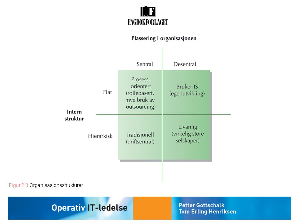 Figur 2.3 Organisasjonsstrukturer