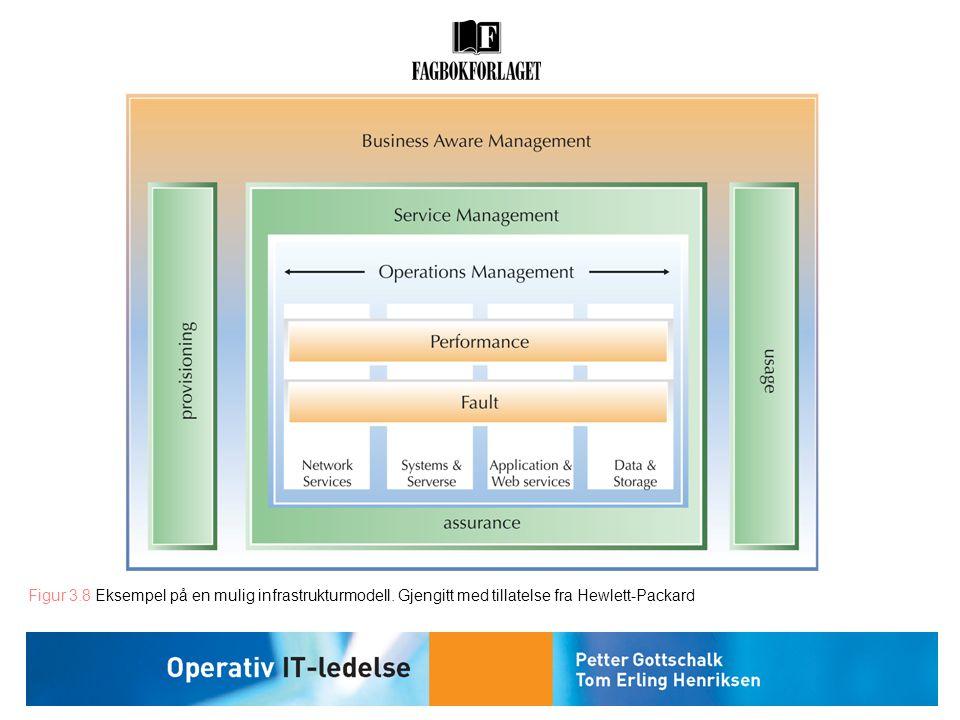 Figur 3.8 Eksempel på en mulig infrastrukturmodell. Gjengitt med tillatelse fra Hewlett-Packard