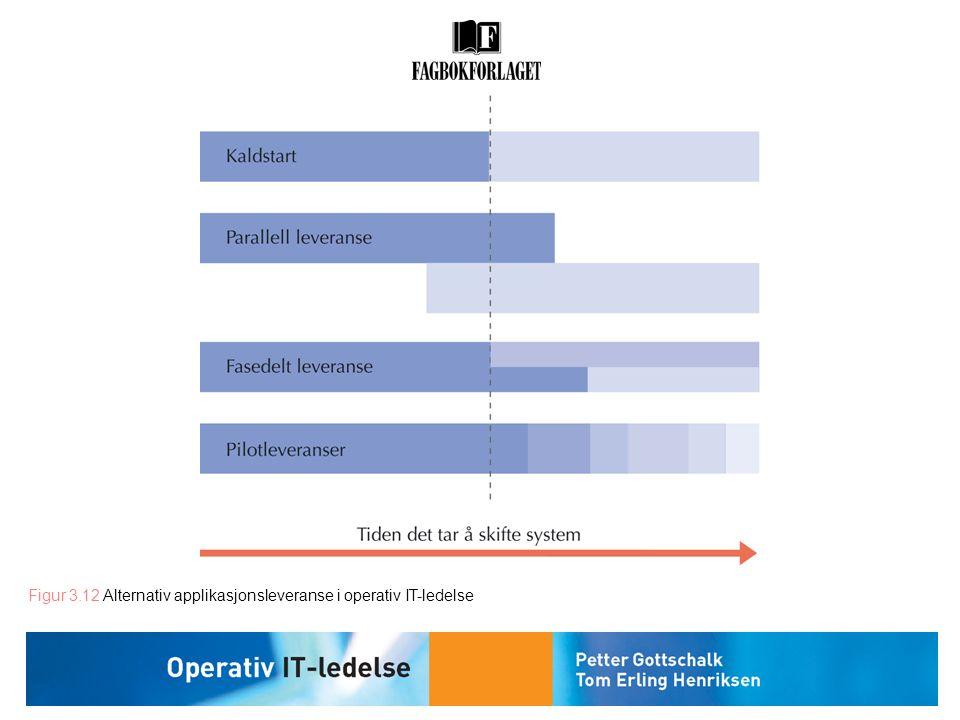 Figur 3.12 Alternativ applikasjonsleveranse i operativ IT-ledelse