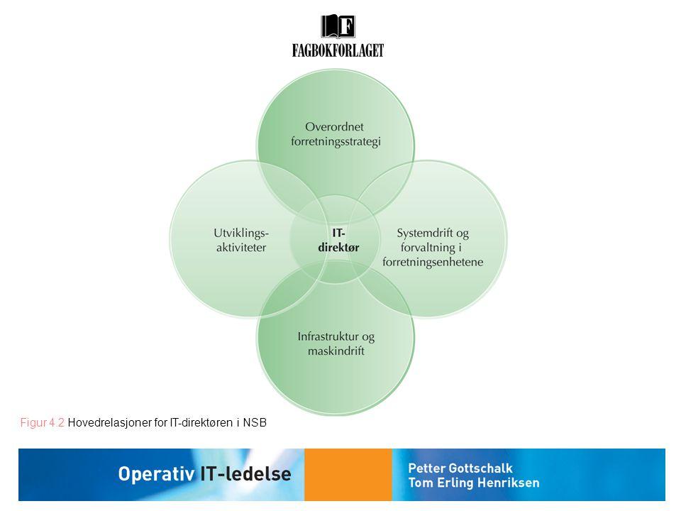 Figur 4.2 Hovedrelasjoner for IT-direktøren i NSB
