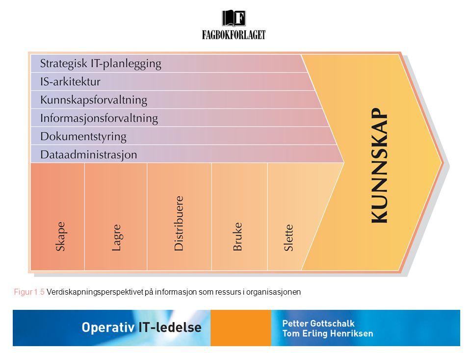 Figur 1.5 Verdiskapningsperspektivet på informasjon som ressurs i organisasjonen