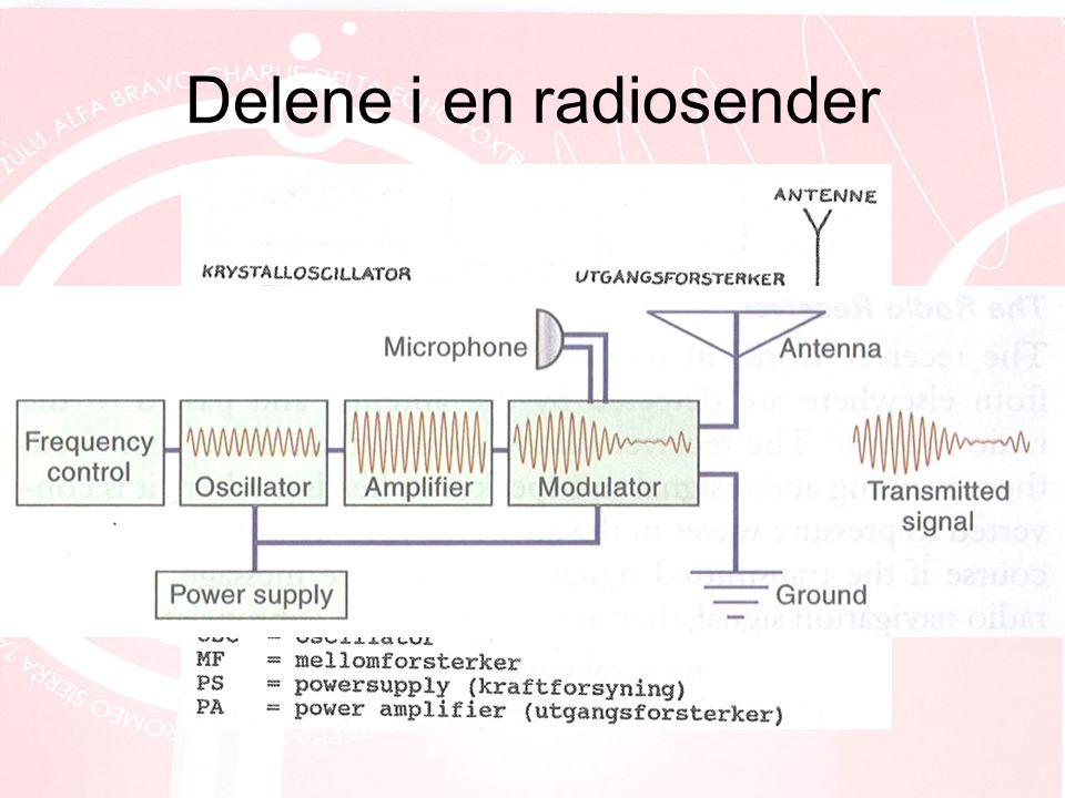 Delene i en radiosender