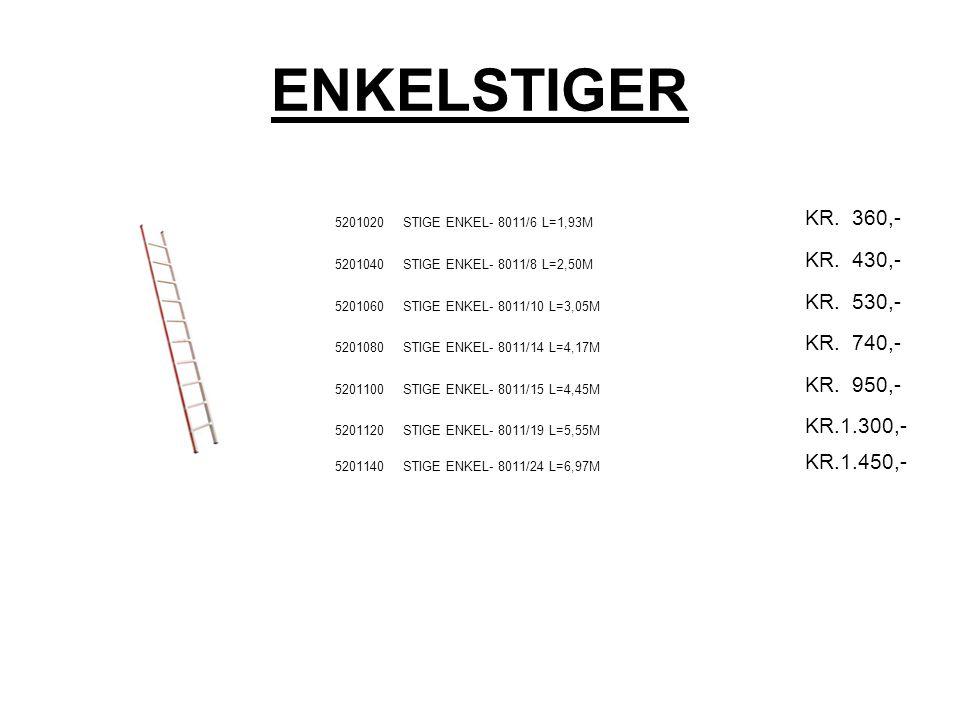 ENKELSTIGER 5201020STIGE ENKEL- 8011/6 L=1,93M KR.