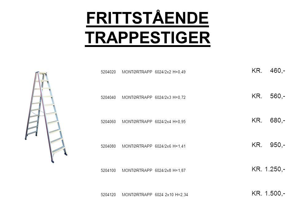 FRITTSTÅENDE TRAPPESTIGER 5204020MONTØRTRAPP 6024/2x2 H=0,49 KR.