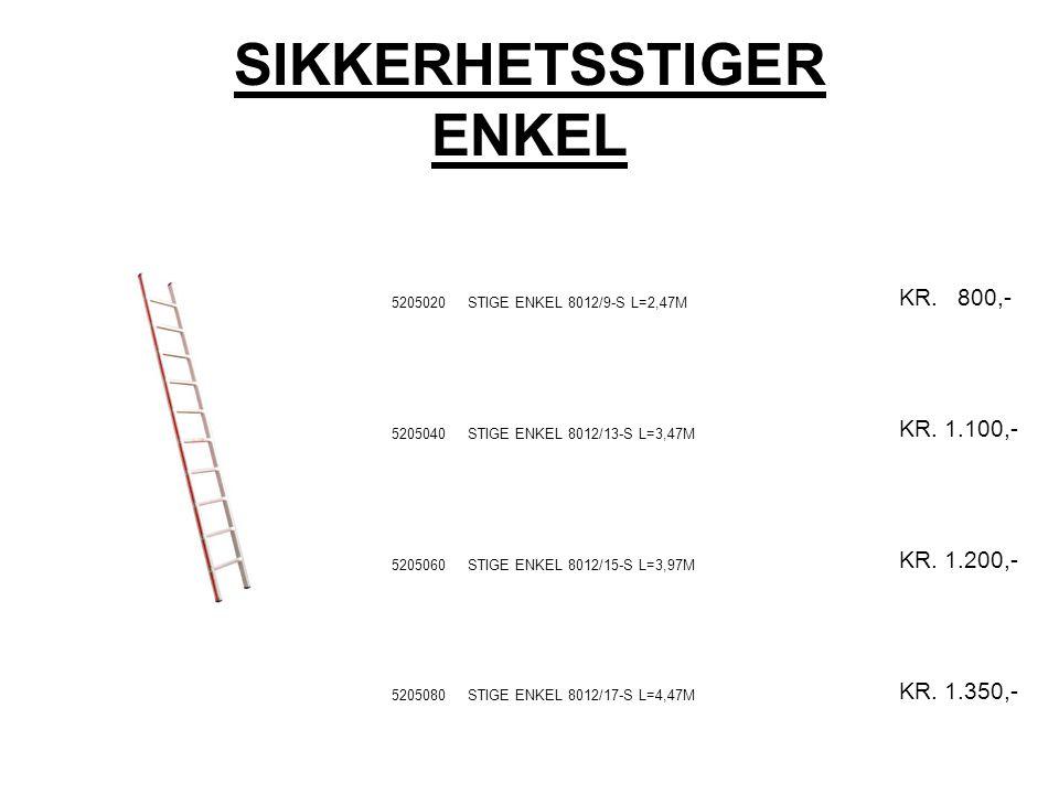 SIKKERHETSSTIGER ENKEL 5205020STIGE ENKEL 8012/9-S L=2,47M KR.
