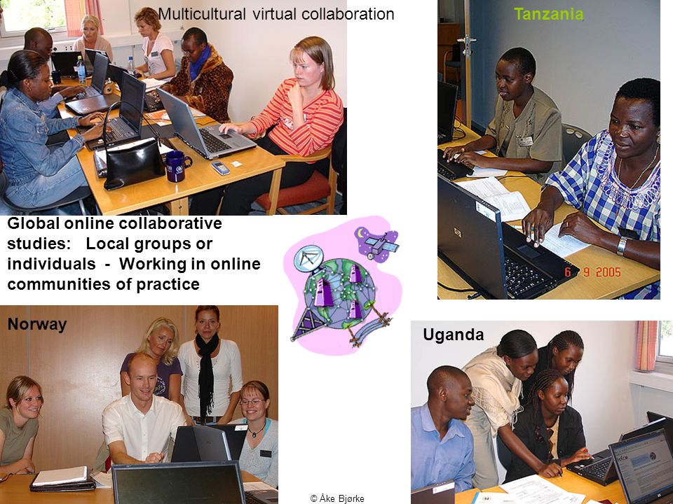 01.02.10 © Åke Bjørke Global online collaborative studies: Local groups or individuals - Working in online communities of practice Tanzania Uganda Norway Multicultural virtual collaboration