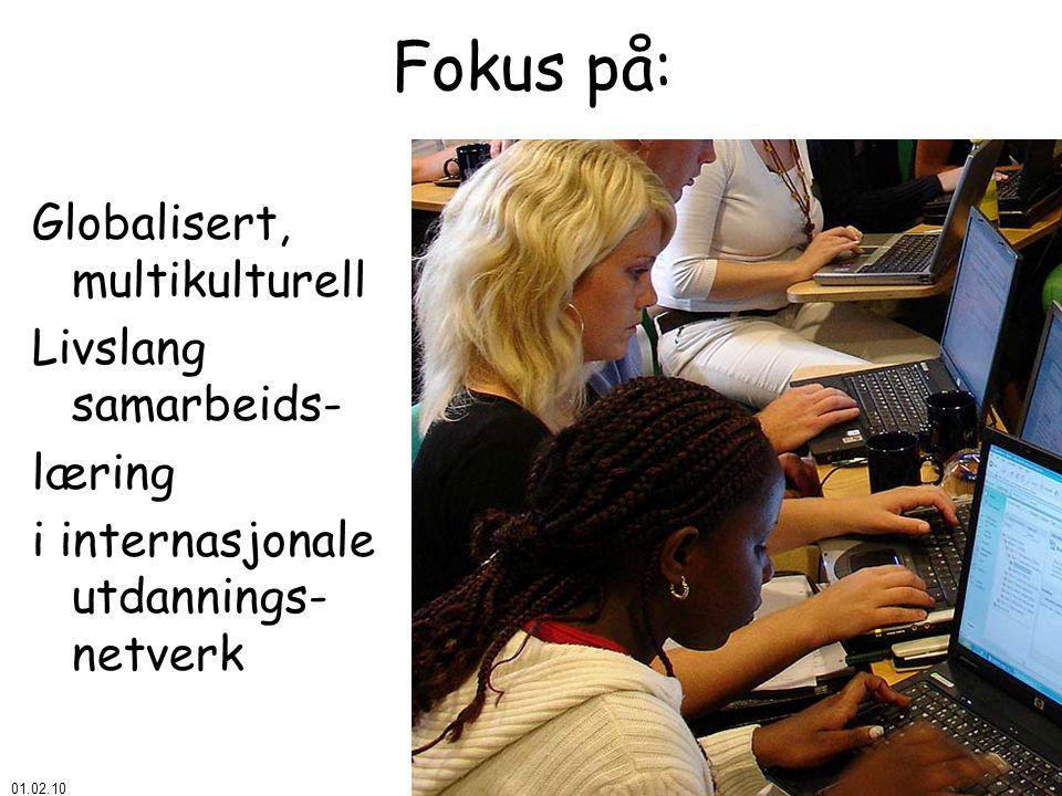 01.02.10 © Åke Bjørke Fokus på: Globalisert, multikulturell Livslang samarbeids- læring i internasjonale utdannings- netverk