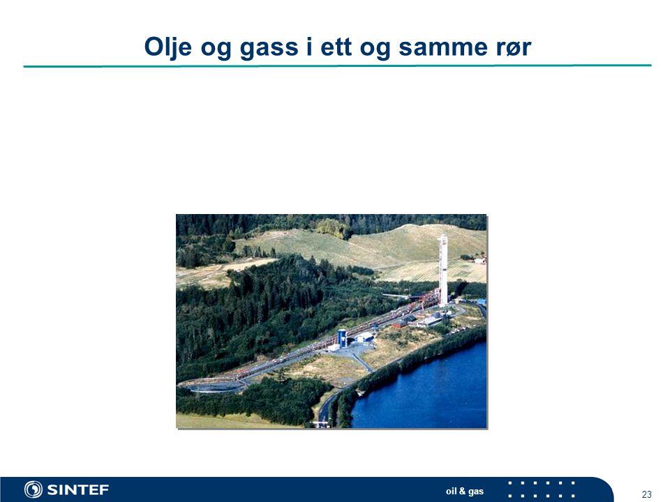 oil & gas 23 Olje og gass i ett og samme rør