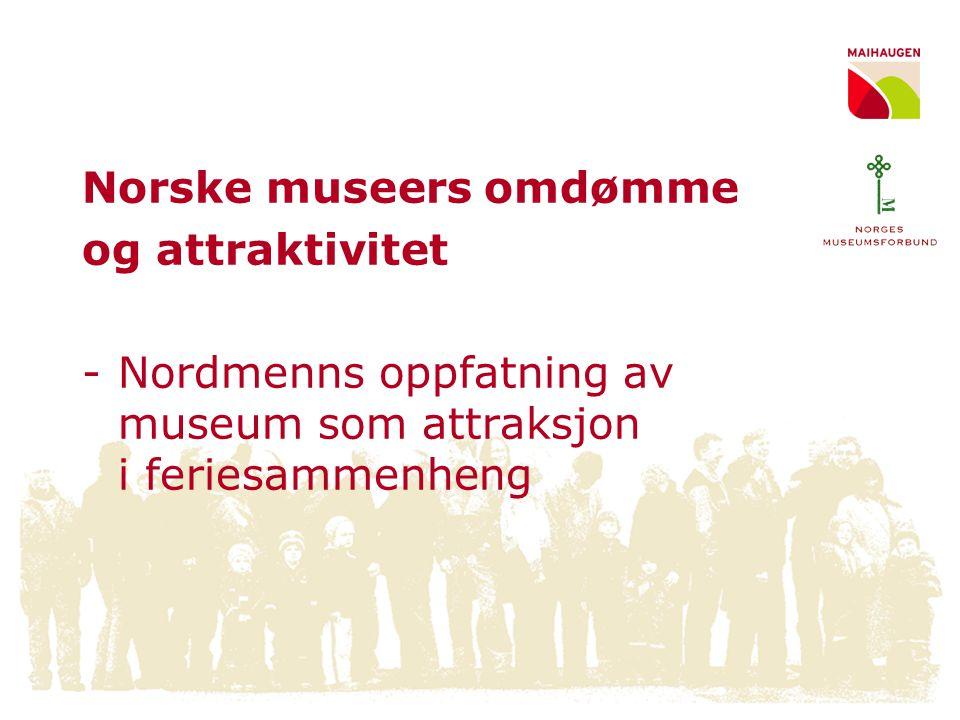 Hvor ofte besøker nordmenn museer på ferie i Norge.