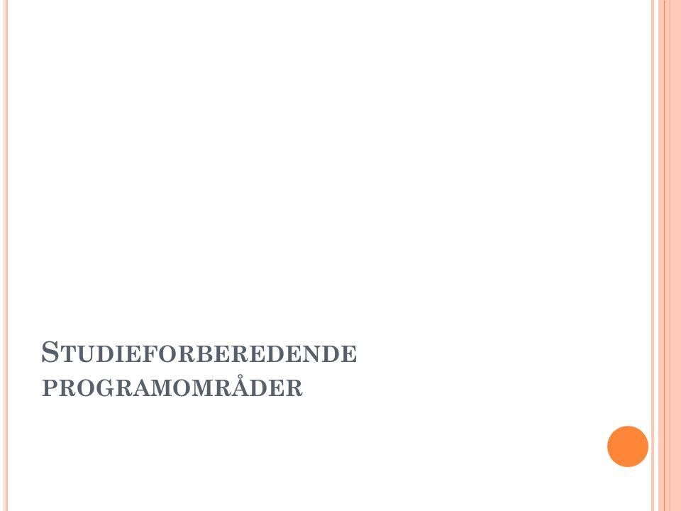 S TUDIEFORBEREDENDE PROGRAMOMRÅDER
