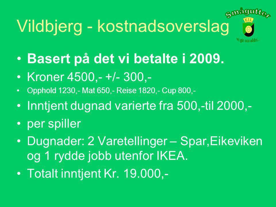 Sommercup - Vildbjerg •Avreise Mandag 26 Juli, • Treningsleir 27-28 Juli, •Cup 29 Juli - 1 August.