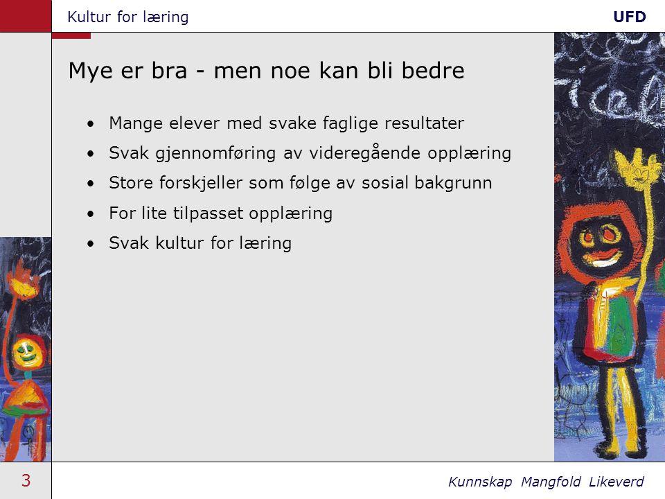 34 Kunnskap Mangfold Likeverd Kultur for læringUFD