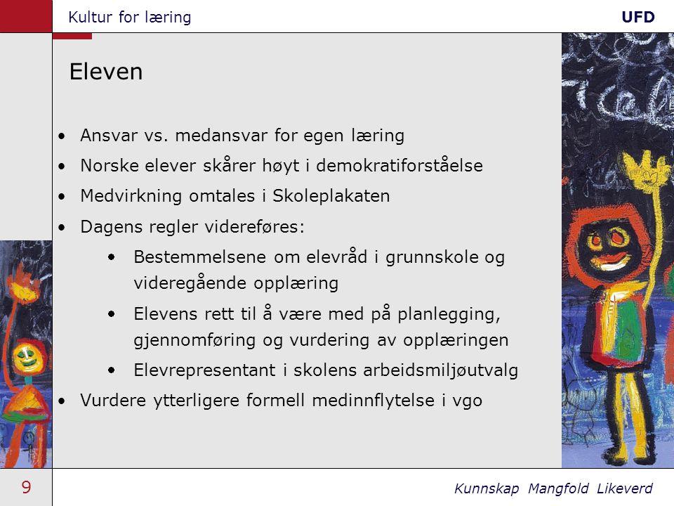 40 Kunnskap Mangfold Likeverd Kultur for læringUFD Studieforberedende 7.3