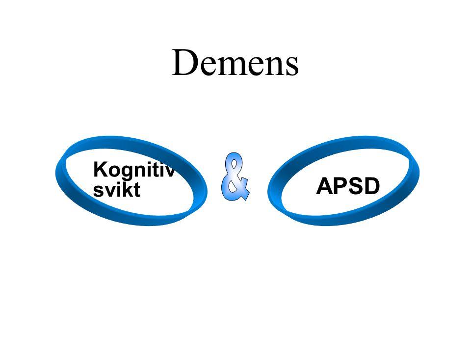Demens Kognitiv svikt APSD