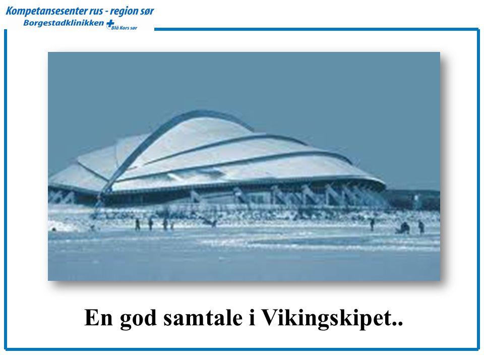 En god samtale i Vikingskipet..