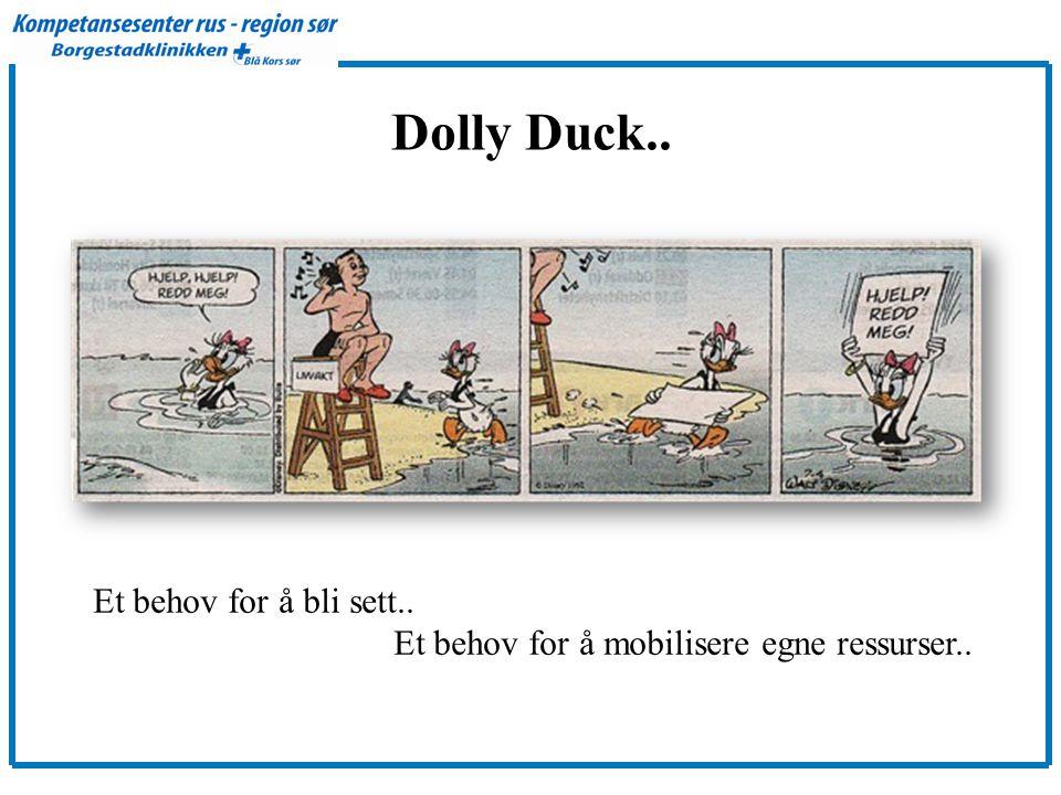 Dolly Duck.. Et behov for å bli sett.. Et behov for å mobilisere egne ressurser..
