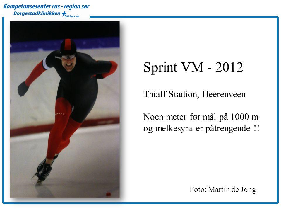 Sprint VM - 2012 Thialf Stadion, Heerenveen Noen meter før mål på 1000 m og melkesyra er påtrengende !.
