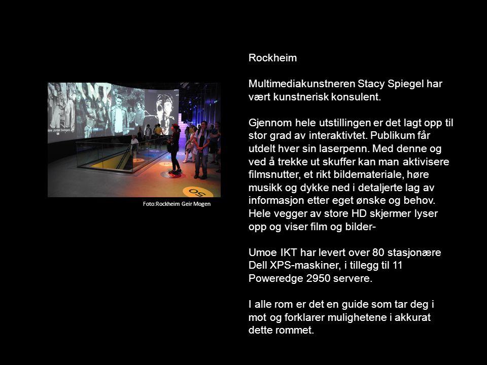 Rockheim Multimediakunstneren Stacy Spiegel har vært kunstnerisk konsulent. Gjennom hele utstillingen er det lagt opp til stor grad av interaktivtet.